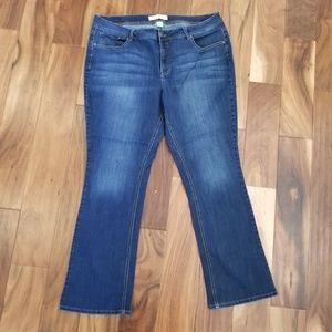 Cato boot cut dark wash stretch jeans 18W x 30
